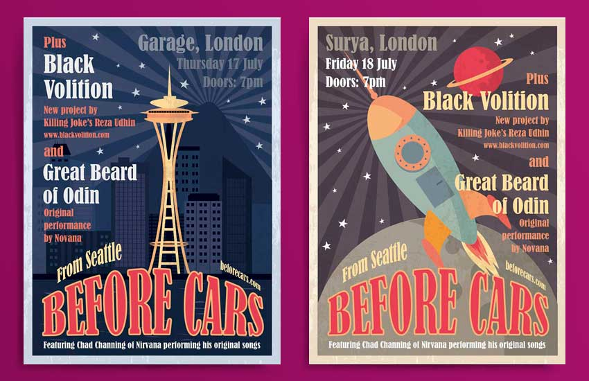 Before Cars promotional flyers